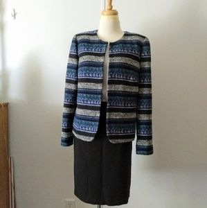 Tahari tribal pattern jacket